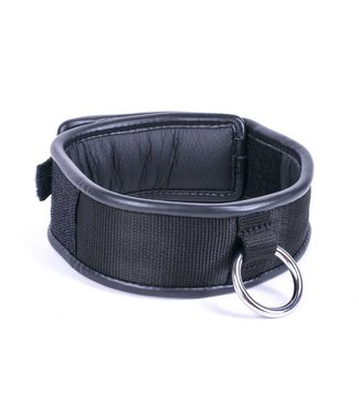 Kiotos Leather Halsband Enkele ring - Zwart