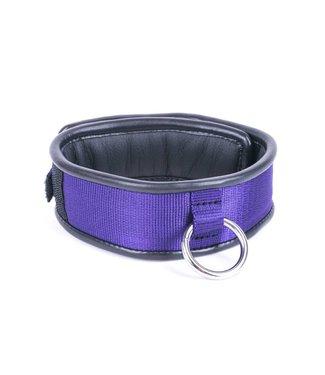 Kiotos Leather Halsband Enkele Ring - Paars