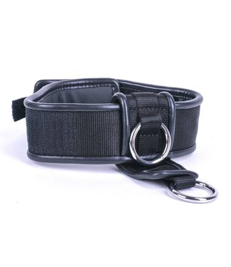 Kiotos Leather Halsband Double Down - Schwarz