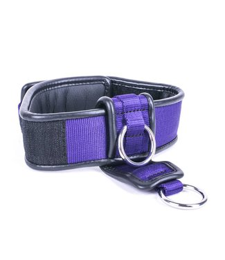 Kiotos Leather Collar Double Down - Purple