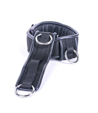 Kiotos Leather Collar Triple Down - Schwarz