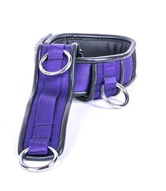 Kiotos Leather Collar Triple Down - Purple