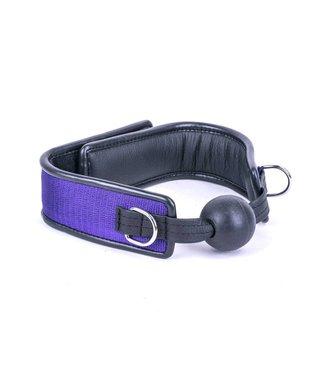 Kiotos Leather Ball Gag - Purple
