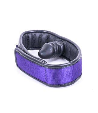 Kiotos Leather Dildo Gag - Purple