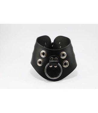 Kiotos Leather Leren Halsband met O-ring