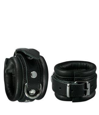 Kiotos Leather Handschellen 5 cm - Schwarz