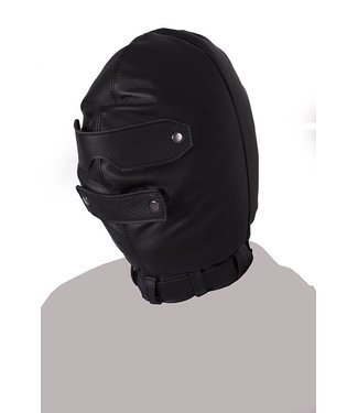 Kiotos Leather Total Blackout Maske
