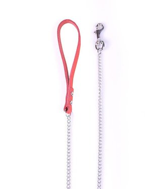 Kiotos Leather Leash S Rood