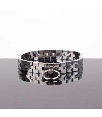 Kiotos Steel Horlogeband Halsband met edelsteenslot