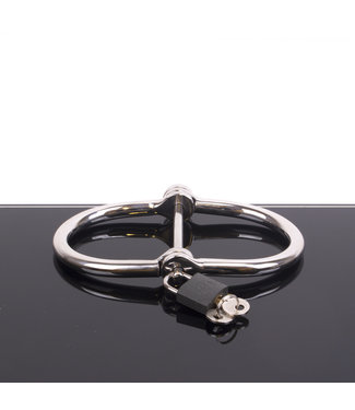 Kiotos Steel D-Handcuffs - Stainless Steel