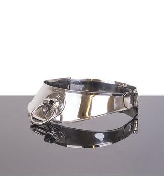 Kiotos Steel VergrendelingsHalsband met ring 12cm