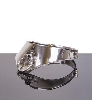 Kiotos Steel VergrendelingsHalsband met ring 11cm