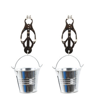 Kiotos Steel Clover Nipple Clamps with Buckets