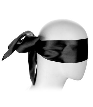 Kiotos Leather Schwarze  Blindfold Satin Look