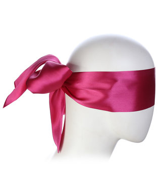 Kiotos Leather Pink Blindfold Satin Look