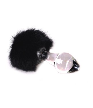 Kiotos Glass Glas Buttplug Zwarte Tickler 13 x 4.2 cm