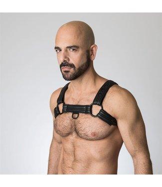 665 Neoprene Bulldog Harness - Zwart