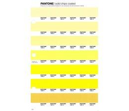 Pantone PMS Solid Chips vervangingspagina op coated papier 3C, kleurnummers 7401C - 7402C - 7403C - 7404C - 7405C - 7406C - 7407C