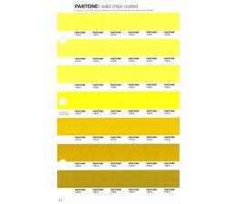 Pantone PMS Solid Chips vervangingspagina op coated papier 6C, kleurnummers 113C - 114C - 115C - 116C - 117C - 118C - 119C