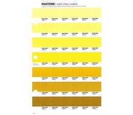 Pantone PMS Solid Chips vervangingspagina op coated papier 8C, kleurnummers 1205C - 1215C - 1225C - 1235C - 1245C - 1255C - 1265C