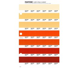 Pantone PMS Solid Chips vervangingspagina op coated papier 20C, kleurnummers 2015C - 2016C - 2017C - 2018C - 2019C - 2020C - 2021C