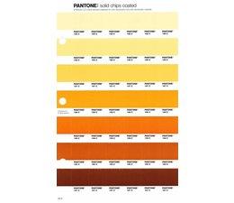 Pantone PMS Solid Chips vervangingspagina op coated papier 22C, kleurnummers 155C - 156C - 157C - 158C - 159C - 160C - 161C