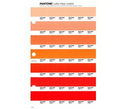 Pantone PMS Solid Chips vervangingspagina op coated papier 25C, kleurnummers 2022C - 2023C - 2024C - 2025C - 2026C - 2027C - 2028C