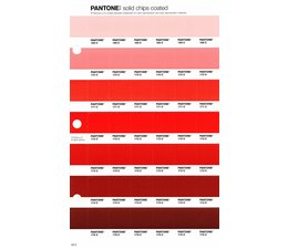 Pantone PMS Solid Chips vervangingspagina op coated papier 29C, kleurnummers 169C - 170C - 171C - 172C - 173C - 174C - 175C