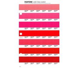 Pantone PMS Solid Chips vervangingspagina op coated papier 39C, kleurnummers 2344C - 2345C - 2346C - 2347C - 2348C - 2349C - 2350C