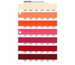 Pantone PMS Solid Chips vervangingspagina op coated papier 45C, kleurnummers 7415C - 7416C - 7417C - 7418C - 7419C - 7420C - 7421C