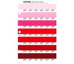 Pantone PMS Solid Chips vervangingspagina op coated papier 46C, kleurnummers 182C - 183C - 184C - 185C - 186C - 187C - 188C