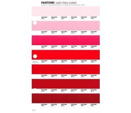 Pantone PMS Solid Chips vervangingspagina op coated papier 47C, kleurnummers 196C - 197C - 198C - 199C - 200C - 201C - 202C