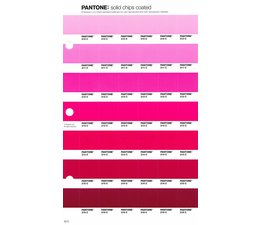 Pantone PMS Solid Chips vervangingspagina op coated papier 53C, kleurnummers 210C - 211C - 212C - 213C - 214C - 215C - 216C