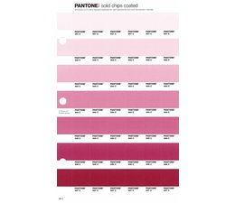 Pantone PMS Solid Chips vervangingspagina op coated papier 68C, kleurnummers 691C - 692C - 693C - 694C - 695C - 696C - 697C