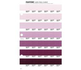 Pantone PMS Solid Chips vervangingspagina op coated papier 83C, kleurnummers 5245C - 5235C - 5225C - 5215C - 5205C - 5195C - 5185C