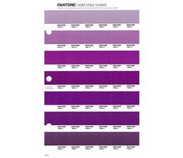 Pantone PMS Solid Chips vervangingspagina op coated papier 92C, kleurnummers 7660C - 7661C - 7662C - 7663C - 7664C - 7665C - 7666C