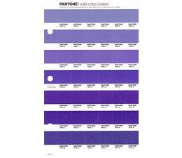 Pantone PMS Solid Chips vervangingspagina op coated papier 101C, kleurnummers 7667C - 7668C - 7669C - 7670C - 7671C - 7672C - 7673C