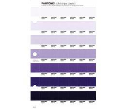 Pantone PMS Solid Chips vervangingspagina op coated papier 105C, kleurnummers 5315C - 5305C - 5295C - 5285C - 5275C - 5265C - 5255C