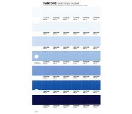 Pantone PMS Solid Chips vervangingspagina op coated papier 118C, kleurnummers 642C - 643C - 644C - 645C - 646C - 647C - 648C