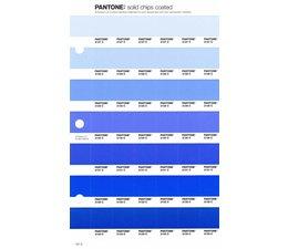 Pantone PMS Solid Chips vervangingspagina op coated papier 121C, kleurnummers 2127C - 2128C - 2129C - 2130C - 2131C - 2132C - 2133C