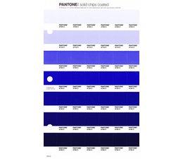 Pantone PMS Solid Chips vervangingspagina op coated papier 124C, kleurnummers 2706C - 2716C - 2726C - 2736C - 2746C - 2756C - 2766C