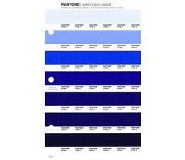 Pantone PMS Solid Chips vervangingspagina op coated papier 125C, kleurnummers 2708C - 2718C - 2728C - 2738C - 2748C - 2758C - 2768C