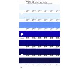 Pantone PMS Solid Chips vervangingspagina op coated papier 126C, kleurnummers 2707C - 2717C - 2727C - Blue 072C - 2747C - 2757C - 2767C