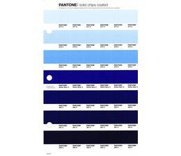 Pantone PMS Solid Chips vervangingspagina op coated papier 127C, kleurnummers 277C - 278C - 279C - Reflex Blue C - 280C - 281C - 282C
