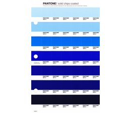 Pantone PMS Solid Chips vervangingspagina op coated papier 128C, kleurnummers 283C - 284C - 285C - 286C - 287C - 288C - 289C
