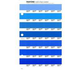 Pantone PMS Solid Chips vervangingspagina op coated papier 135C, kleurnummers 2381C - 2382C - 2383C - 2384C - 2386C - 2387C - 2388C