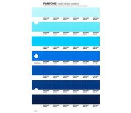 Pantone PMS Solid Chips vervangingspagina op coated papier 140C, kleurnummers 2975C - 2985C - 2995C - 3005C - 3015C - 3025C - 3035C