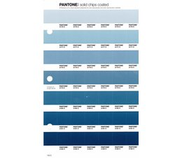 Pantone PMS Solid Chips vervangingspagina op coated papier 143C, kleurnummers 2176C - 2177C - 2178C - 2179C - 2180C - 2181C - 2182C