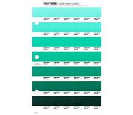 Pantone PMS Solid Chips vervangingspagina op coated papier 168C, kleurnummers 3248C - 3258C - 3268C - 3278C - 3288C - 3298C - 3308C