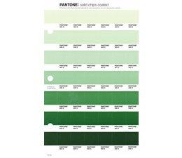 Pantone PMS Solid Chips vervangingspagina op coated papier 171C, kleurnummers 559C - 558C - 557C - 556C - 555C - 554C - 553C